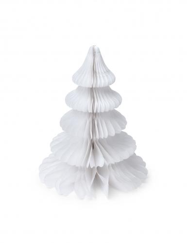 Sapin en papier alvéolé blanc 29 cm