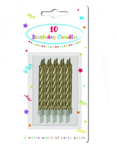 10 Bougies dorées-1