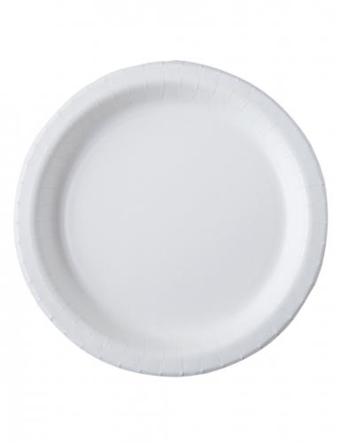 20 Assiettes carton blanc biodégradable et compostable 26 cm