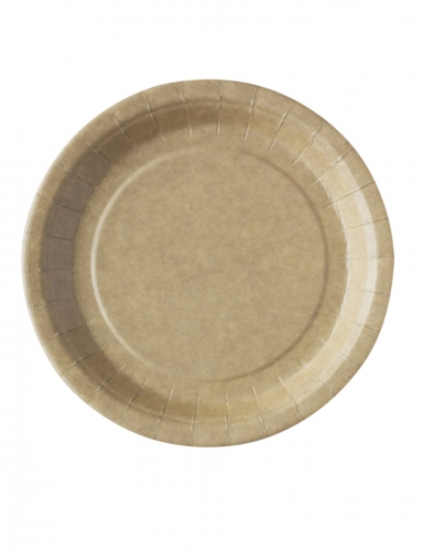 50 Assiettes kraft biodégradable et compostable 23 cm