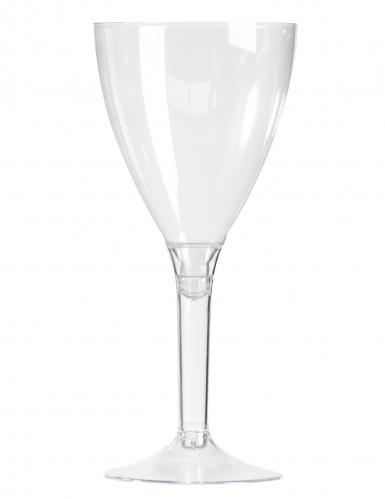 10 Verres à vin pied cristal 160 ml