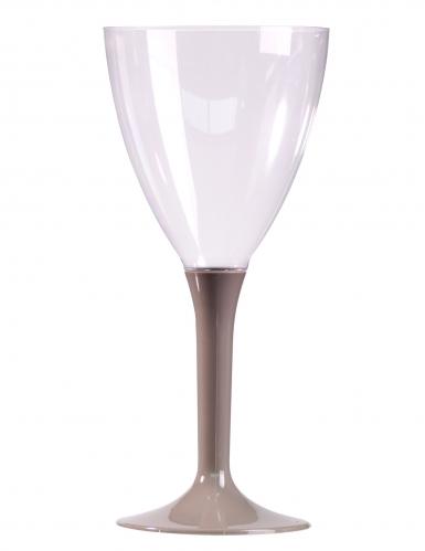 10 Verres à vin pied gris 160 ml