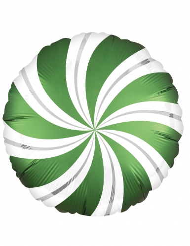 Ballon aluminium sweet candy vert et blanc 43 cm