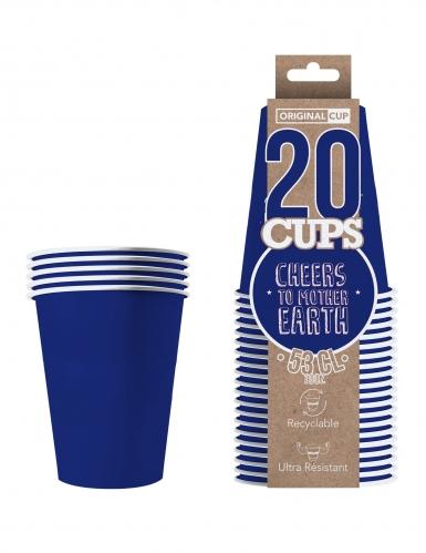 20 Gobelets américains carton recyclable bleus 53 cl-1