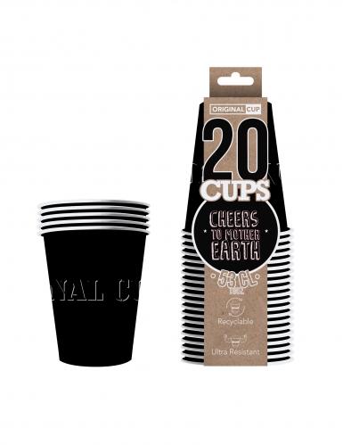 20 Gobelets américains carton recyclable noirs 53 cl-1
