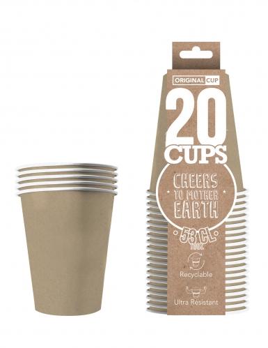 20 Gobelets américains carton recyclable kraft 53 cl-1