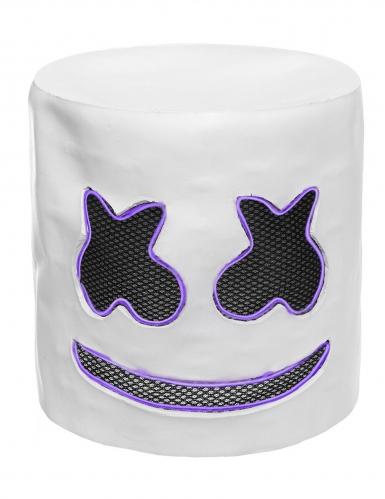 Masque DJ guimauve led violet adulte-3