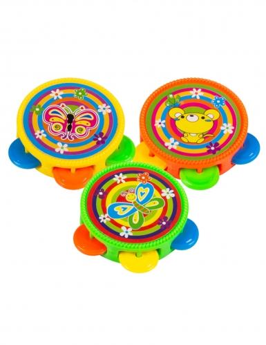 Accessoires piñata 3 tambours multicolores 4,5 cm