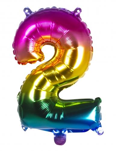 Ballon aluminium multicolore 36 cm-2