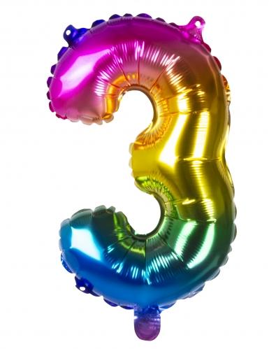 Ballon aluminium multicolore 36 cm-3