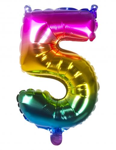 Ballon aluminium multicolore 36 cm-5
