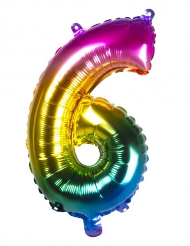 Ballon aluminium multicolore 36 cm-6