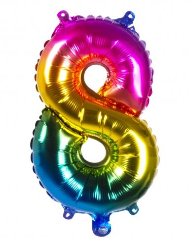 Ballon aluminium multicolore 36 cm-8