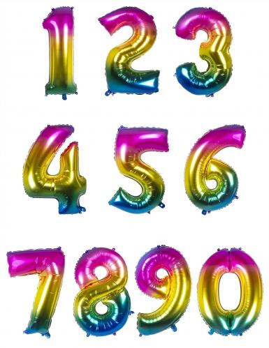 Ballon aluminium multicolore 86 cm-1