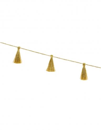 Guirlande en tissu tassel dorée 6 cm x 1,9 m