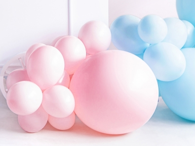 Ballon en latex géant rose pâle 60 cm-1
