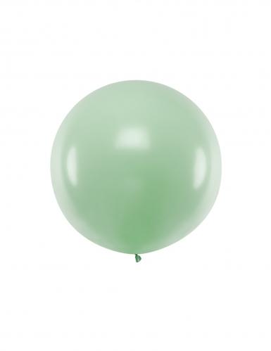 Ballon en latex géant pistache 1 m