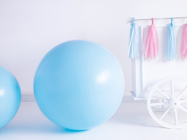 Ballon en latex géant bleu 1 m-1