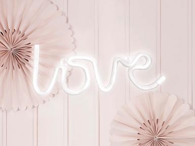 Décoration lumineuse neon led love blanc 34,5 x 13 cm-1