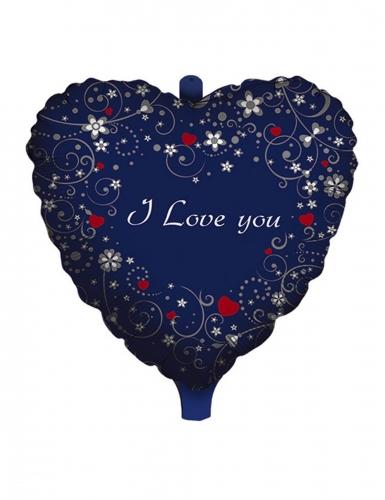 Ballon aluminium cœur i love you 45 cm