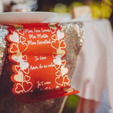 Ruban découpe cœur en satin je t'aime rouge 14 cm x 1,40 m-1