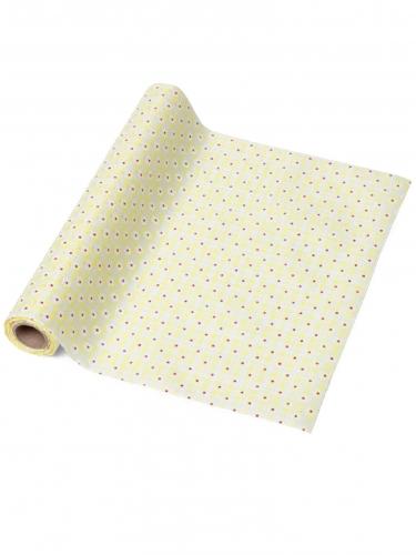 Chemin de table en tissu petites fleurs jaune 28 cm x 5 m