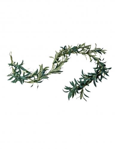 Guirlande de feuilles d'olivier verte 1,80 m