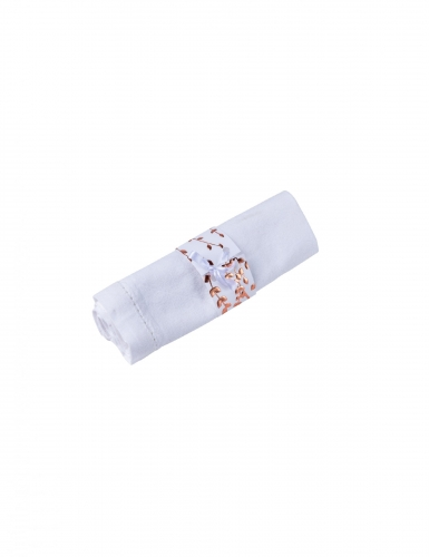10 Ronds de serviette en carton végétal rose gold 16 x 4 cm