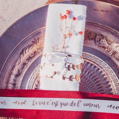 10 Ronds de serviette en carton végétal rose gold 16 x 4 cm-1