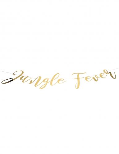 Guirlande en carton jungle fever dorée 1,20 m