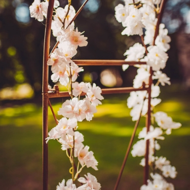 Guirlande de fleurs de cerisier roses 1,80 m-1