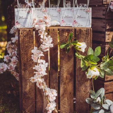 Guirlande de fleurs de cerisier roses 1,80 m-2
