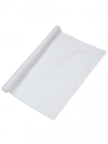 Chemin de table mousseline blanche 48 cm x 5 m