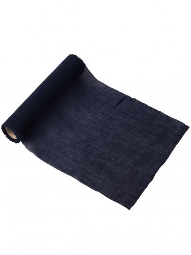 Chemin de table mousseline bleu marine 28 cm x 5 m