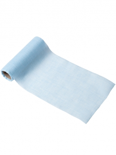 Chemin de table mousseline bleu ciel 14 cm x 5 m