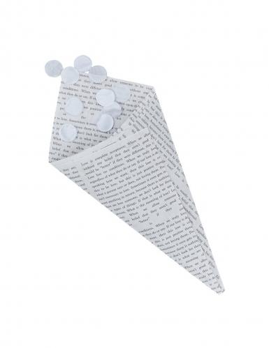 10 Cônes en papier journal 18,5 x 9 cm