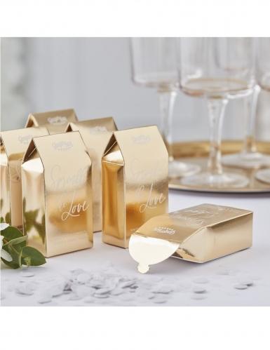 Boîte en carton dorées avec confettis biodégradables 10 x 5 cm 7 g