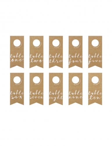 10 Marques tables en papier kraft pour bouteilles 8 x 18,5 cm-2