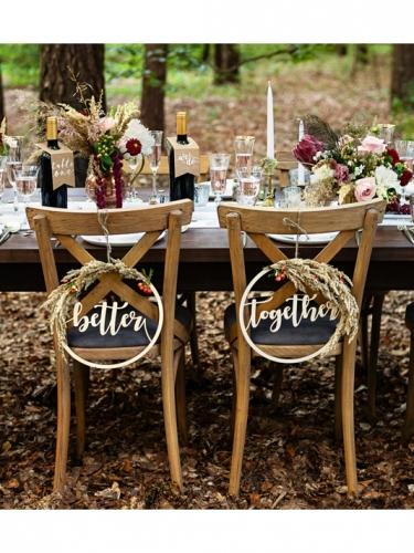 10 Marques tables en papier kraft pour bouteilles 8 x 18,5 cm-3