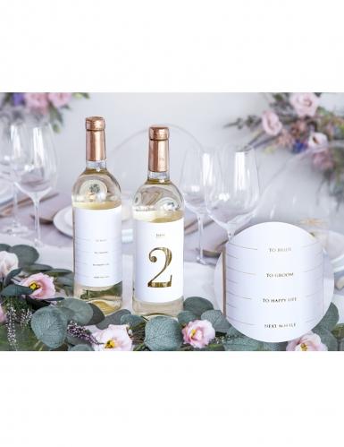 30 Marque tables en papier adhésif pour bouteilles 9,5 x 12 cm-2