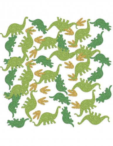 Confettis de table dinosaures pailletés 42 g