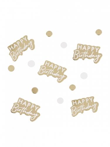 Confettis en carton Happy Birthday doré 13 g