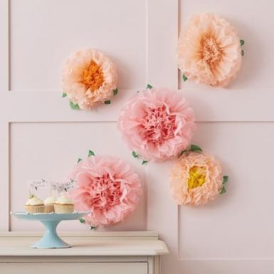 5 Fleurs en papier 32,5-25,5 cm-1
