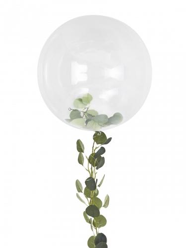 Ballon bulle transparent avec guirlande de feuilles 90 cm