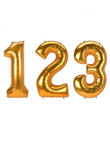 Ballon aluminium chiffre doré 134 cm-1