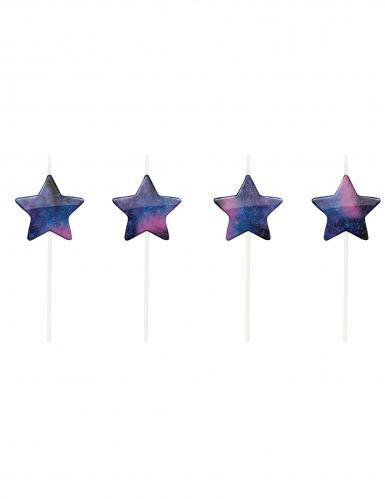 5 Bougies sur pique étoiles galaxy 6,5 cm