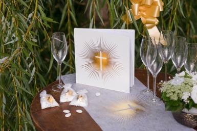 Livre d'or cérémonie dorée 24 x 24 cm-1