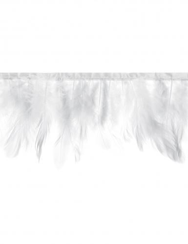 Guirlande de plumes blanches 1 m-2
