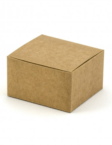 10 Petites boîtes carrés en kraft 6 x 5,5 x 3,5 cm