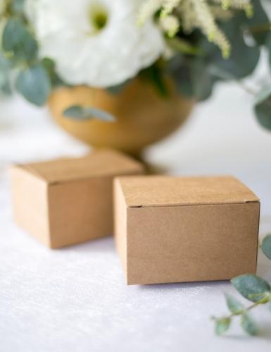 10 Petites boîtes carrés en kraft 6 x 5,5 x 3,5 cm-2